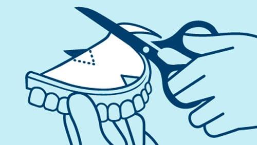 como pegar una prótesis dental son almohadillas adhesivas