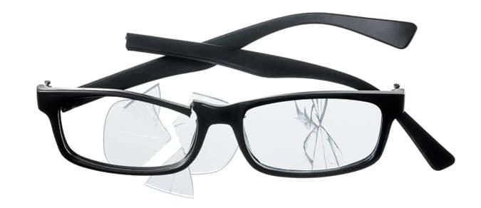 montura de gafas de policarbonato pegadas con pegamento