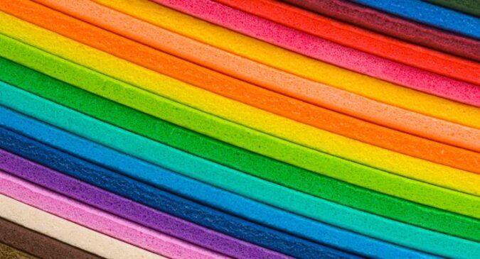 Laminas de goma eva de 1000 colores para pegar en cualquier superficie