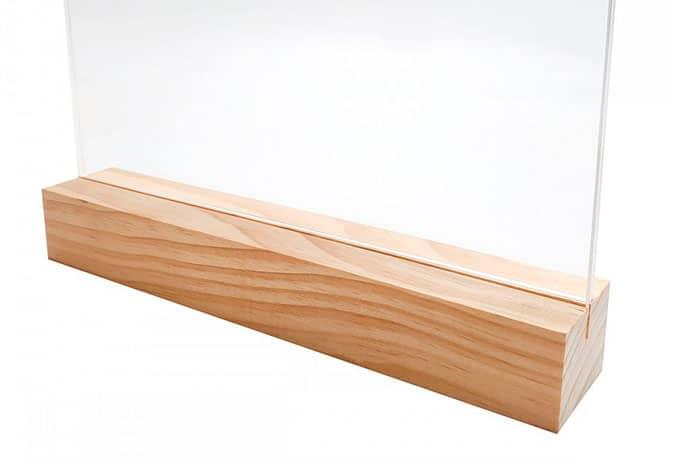 combinación de madera y metacrilato, como pegarlo con cianoacrilato