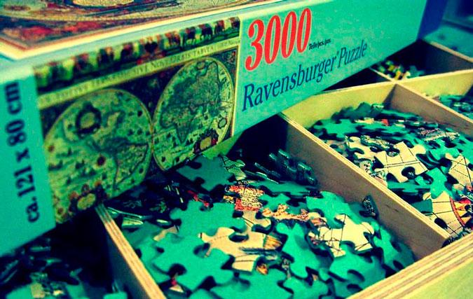 como pegar un puzzle de 3000 piezas