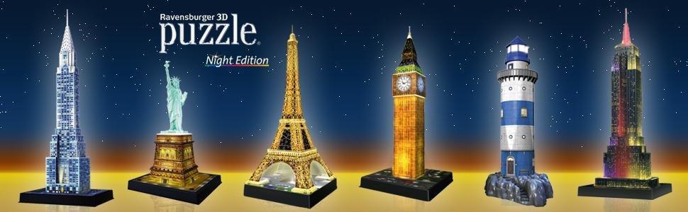 colección de puzzles 3D